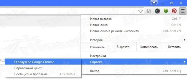Google Chrome о браузере