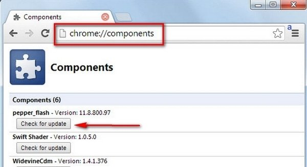 Обновляем Flash Player в Google Chrome