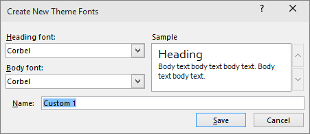 custom fonts dialog in powerpoint