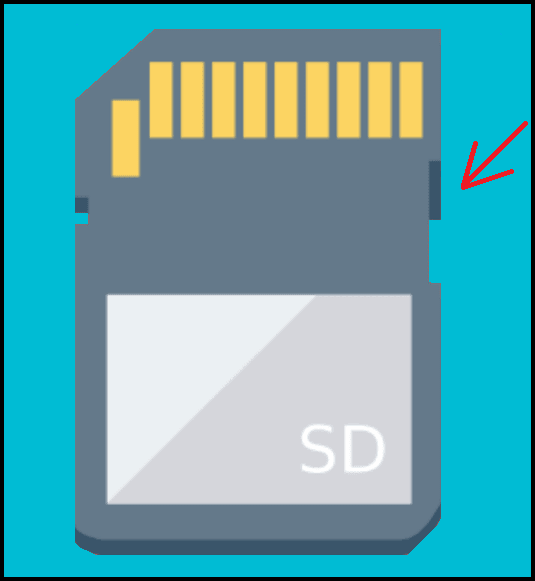 SD card is write protected because of switcher