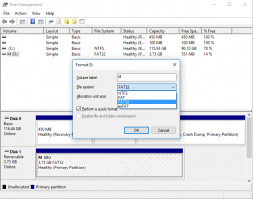 Use Disk Management to recover unreadable USB drive.
